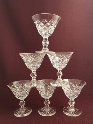 Kosta Boda 20 Rut 6 st martini glas design Fritz Kallenberg
