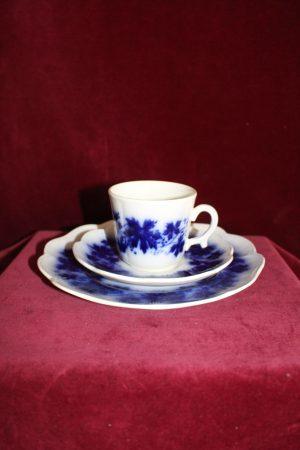 Gefle -Vinranka flytande blått- Kaffekopp&Fat med Assiett -Arthur Percy