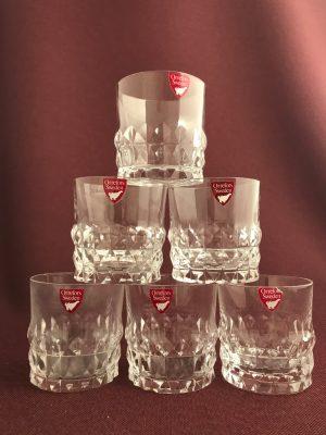 Orrefors - Silvia - 6 st små Whiskey glas -Ingeborg Lundin