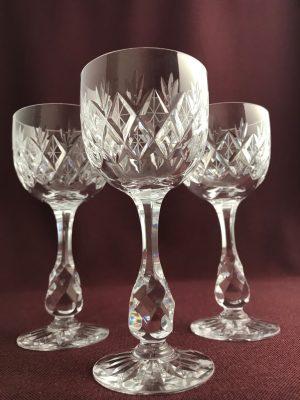 Kosta boda – Pompadour –  3 st Vitvin glas Remmare – Fritz Kallenberg