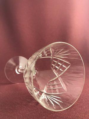 Orrefors - Helga - Rödvinsglas slipadfot - design Fritz Kallenberg