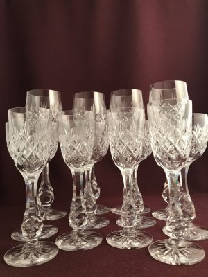 Kosta boda - Pompadour - Servis 12 glas - vin och snaps - Fritz Kallenberg