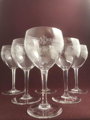 Orrefors - Kerstin - 6 st RödVins glas Design Edvard Hald