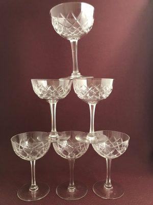 Kosta Boda – Bror 6 st Champagneglas / Coupe design Fritz Kallenberg