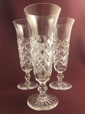 Kosta Boda- 20 Rut – 3 st champagneglas Design Fritz Kallenberg