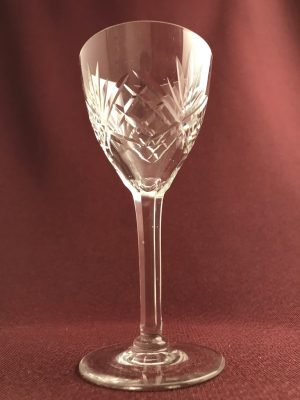 Kosta boda - Helga - Vitvin glas slipad fot - design Fritz Kallenberg