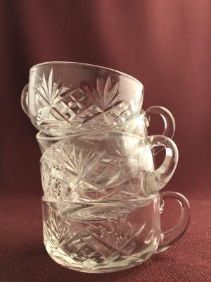 Kosta boda - Helga - 4st Glögg/Punch glas - design Fritz Kallenberg