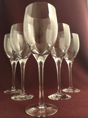 Orrefors - Illusion - 6 st Rödvinsglas design Nils Landberg