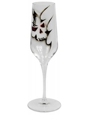 Nybro – Memento Mori – 6 st Champagne glas Design Anders Lindblom