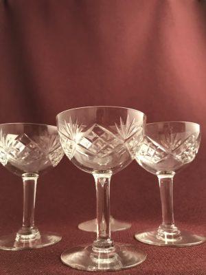 Kosta boda - Helga - 4 st Martiniglas design Fritz Kallenberg