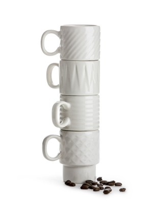Coffee & More Espressomugg vit 4-pack