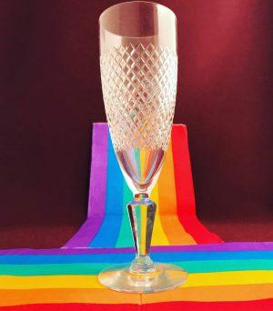 Kosta Boda - Safir Champagne strut - design Fritz Kallenberg Pride