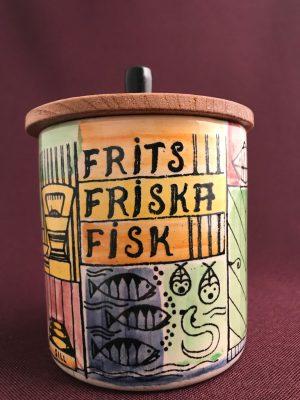 Jie Gantofta- Frits friska fisk Nr 22/1 - vår lilla stad Design Anita Nylund