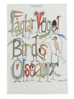 Kökshandduk Fåglarna pratar Ny - Design Olle Eksell