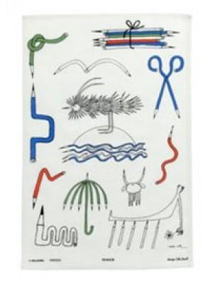 Kökshandduk Pennor- Ny - Design Olle Eksell