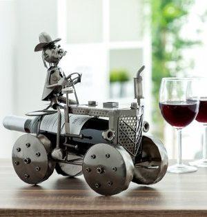 Interiör - Vin hållare - Bonde kör traktor design Nytt från glasprinsen
