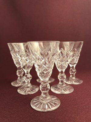 Kosta Boda 20 Rut 6 st Snaps glas design Fritz Kallenberg