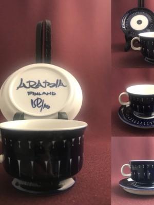 Arabia-Valencia-Kaffekopp med fat- Design Ulla Procope