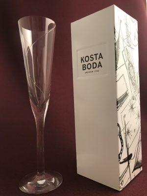 Kosta Boda Line champagneglas / strut Anna Ehrner - Nytt från glasprinsen