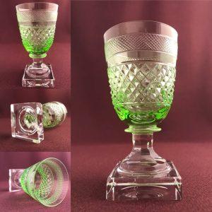 Kosta Boda - Kent Rödvinsglas uran grönt glas design Elis Bergh