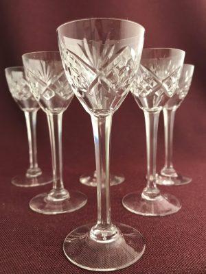 Orrefors - Helga - 6 st Cognaq glas design Fritz Kallenberg