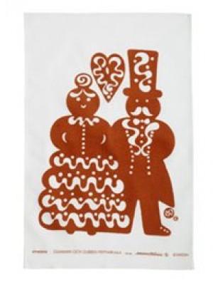 Almedahls - Kökshandduk Gumman och Gubben- Nyskick - Design Marianne Westman
