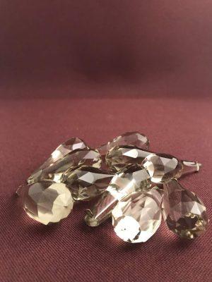 Kristall - Prismor 10 st - päronformade - antik reservdelar design