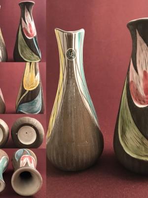 Uppsala Ekeby - 1 par ljuvliga vaser signerad - keramik Design Mari Simulsson