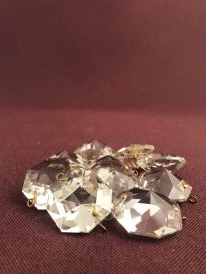 Kristall - Prismor 10 st - 30 mm diamant- antik reservdelar design