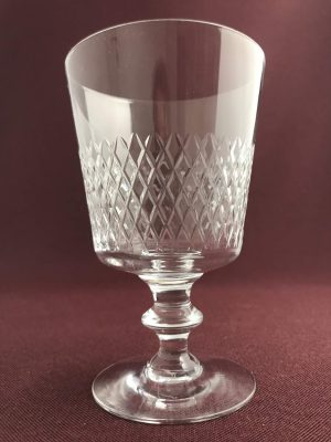Kosta boda - Diamant - Rödvinsglas Design Vicke Lindstrand