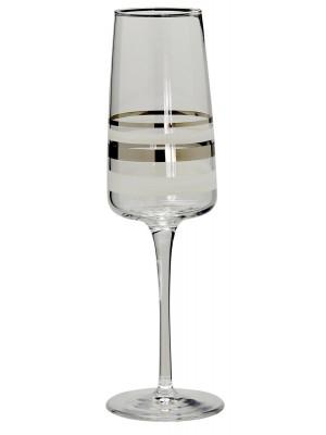 Nybro – Versailles Silver – 6 st Champagne glas Design Anders Lindblom