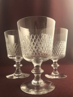 Kosta boda - Diamant - 4 st Rödvins glas - Vicke Lindstrand