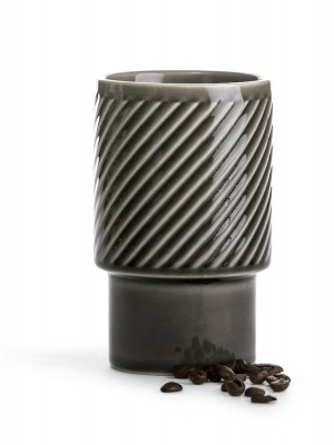 Coffee & More Lattemugg, grå