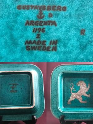 Gustavsberg- Argenta - Stort fat 1196 I R - Wilhem Kåge