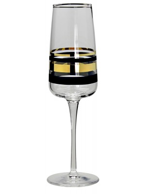 Nybro – Versailles Gold – 6 st Champagne glas Design Anders Lindblom