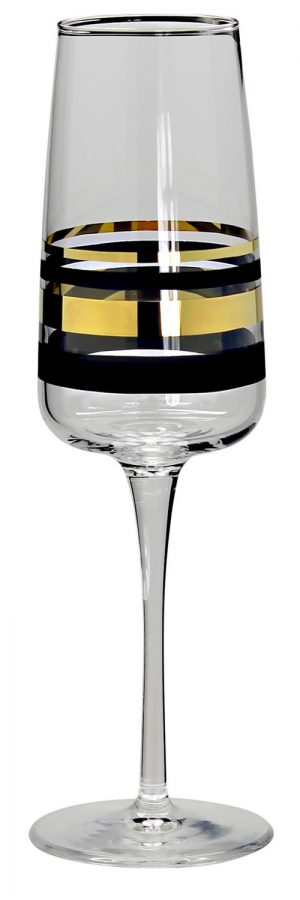 Nybro - Versailles Gold - 6 st Champagne glas Design Anders Lindblom