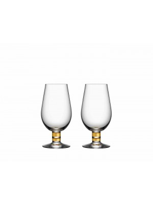 Orrefors - EXCLUSIVE - ÖL glas - 2-PACK design Per Morberg