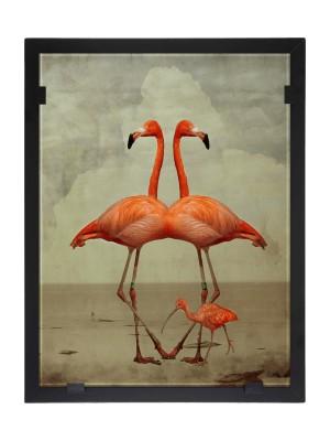 Glasvision - Tavla - Konstglas - Flamingoduo Design Yvonne Heinonen
