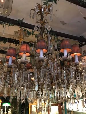 Lampa - kristall krona - Oskariansk sent 1800 tal -12 el ljuskällor