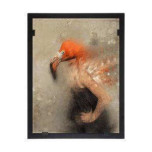 Glasvision - Tavla - Konstglas - – Flamingo Flamenco Design Yvonne Heinonen