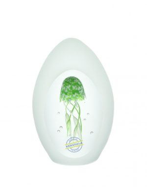 Bergdala Hyttan - Konstglas - Minimanet grön Design Magnus Carlsson