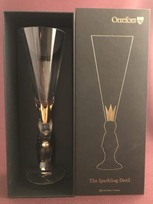 Orrefors - NOBEL - Djävulsglas - Champagne MÖRKGRÅ - design Gunnar Cyrén