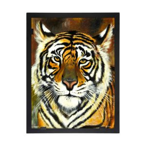 Glasvision - Tavla - Konstglas - Tiger Designer Astrid Gate