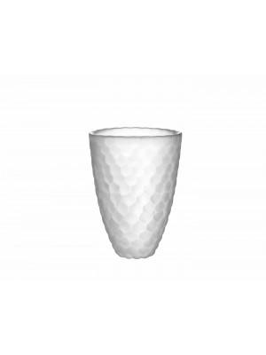 Orrefors - Hallon / Rasberry - Vas frostad H 160 mm Design Anne Nilsson