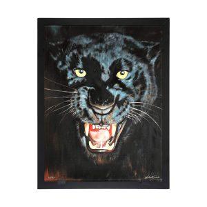 Glasvision - Tavla - Konstglas - Black panter Designer Astrid Gate
