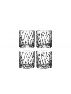Orrefors - City - Whiskey / DOF 4-PACK 34 CL Design Martti Rytkönen
