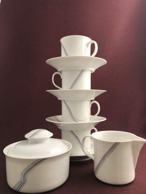 Rörstrand - Rainbow - Kaffe Servis 10 delar - Design Bertil Vallien
