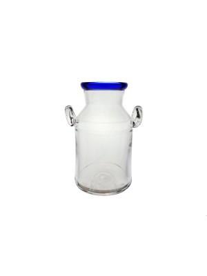 Bergdala Hyttan - Blå Kant - Mjölkkruka Design