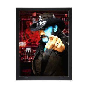 Glasvision - Tavla - Konstglas - Lemmy - Motorhead Design Per Siwmark