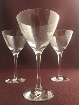 Orrefors - Illusion - 3 st Martini glas Design Nils Landberg